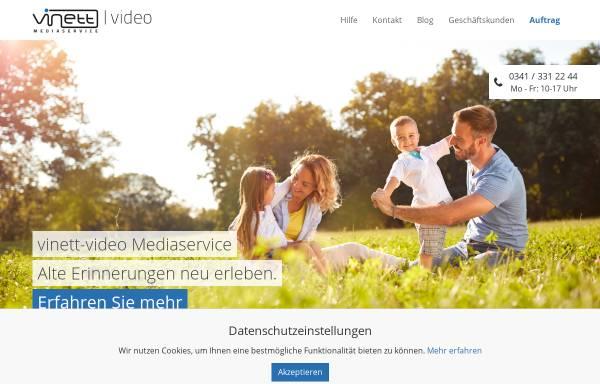 Vorschau von www.vinett-video.de, Vinett-video Mediaservice GbR