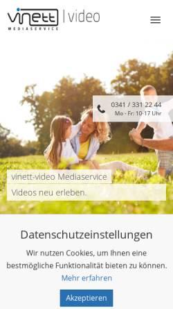 Vorschau der mobilen Webseite www.vinett-video.de, Vinett-video Mediaservice GbR