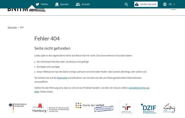Vorschau von www.bnitm.de, Tropeninstitut Hamburg