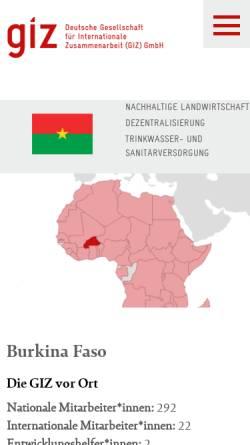 Vorschau der mobilen Webseite www.giz.de, Deutsche Gesellschaft für Internationale Zusammenarbeit