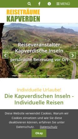 Vorschau der mobilen Webseite www.reisetraeume.de, Reiseträume Kapverden