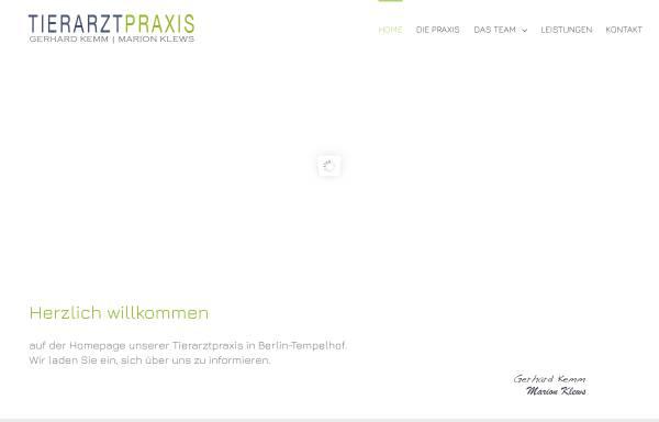Vorschau von www.tierarztpraxis-kemm-klews.de, Tierärztliche Gemeinschaftspraxis - Marion Klews & Gerhard Kemm
