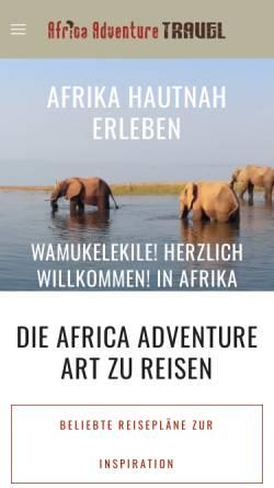 Vorschau der mobilen Webseite www.africa-adventure.travel, Africa-Adventure.Travel