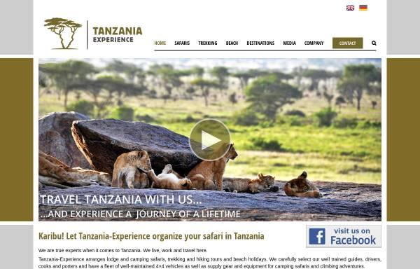 Vorschau von www.tanzania-experience.com, Tansania Erfahrung