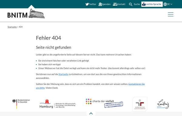Vorschau von www.bnitm.de, Bernhard-Nocht-Institut Hamburg