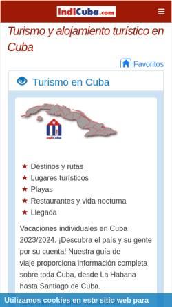 Vorschau der mobilen Webseite indicuba.com, IndiCuba.com