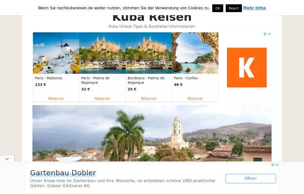 Vorschau von www.nachkubareisen.de, Kuba Reisen