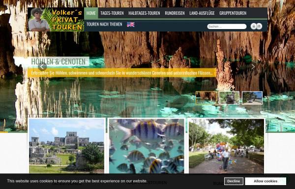 Vorschau von privat-touren.riviera-maya-portal.com, Volkers Privat Touren