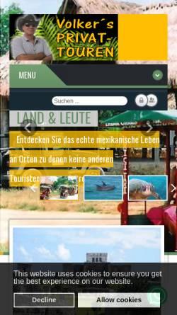 Vorschau der mobilen Webseite privat-touren.riviera-maya-portal.com, Volkers Privat Touren