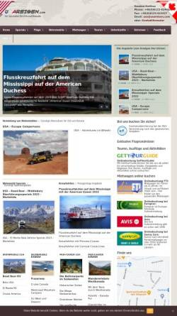 Vorschau der mobilen Webseite www.usareisen.com, Adventure Travel