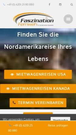 Vorschau der mobilen Webseite www.faszination-fernweh.de, Faszination Fernweh GmbH
