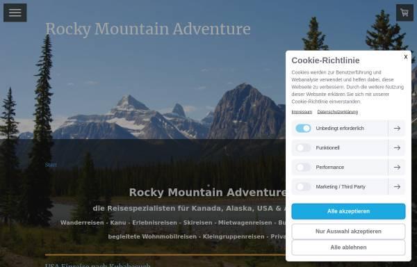Vorschau von www.rockymountainadventure.de, Aktiv Reisen Weltweit, Mario Möbius