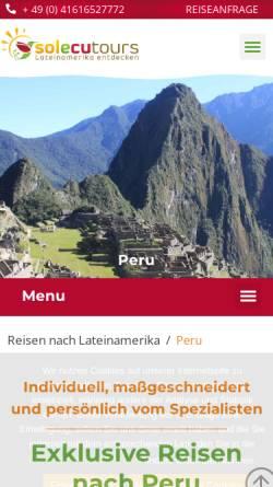Vorschau der mobilen Webseite www.solecu.de, Solecu Tours
