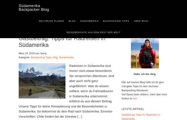 Vorschau von backpacker-blog.org, Südamerika Backpacker Blog