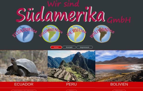 Vorschau von wir-sind-suedamerika.de, Wir-sind-Südamerika GmbH
