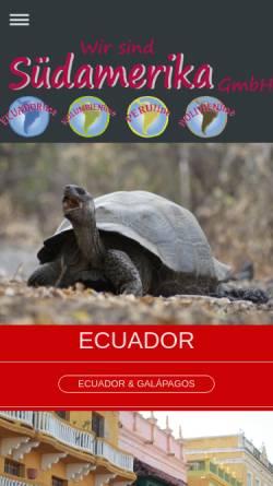 Vorschau der mobilen Webseite wir-sind-suedamerika.de, Wir-sind-Südamerika GmbH