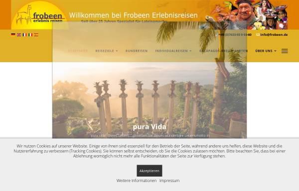 Vorschau von frobeen.de, Frobeen Erlebnisreisen