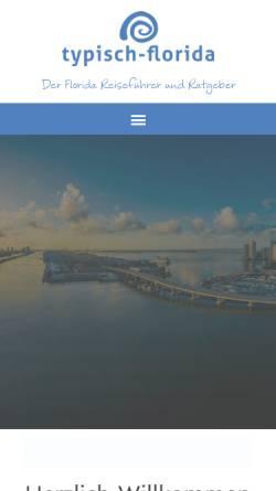 Vorschau der mobilen Webseite www.typisch-florida.de, Typisch Florida