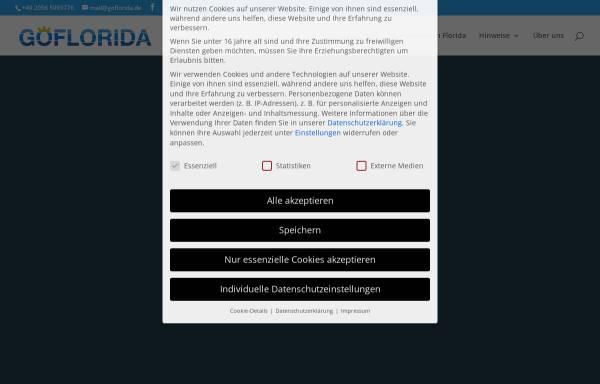 Vorschau von www.goflorida.de, Go*Florida, Sabine Steinbacher