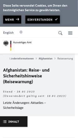Vorschau der mobilen Webseite www.auswaertiges-amt.de, Auswärtiges Amt