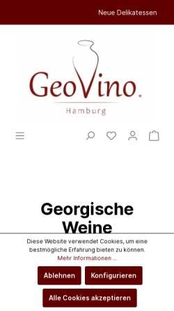 Vorschau der mobilen Webseite www.geovino.de, GeoVino