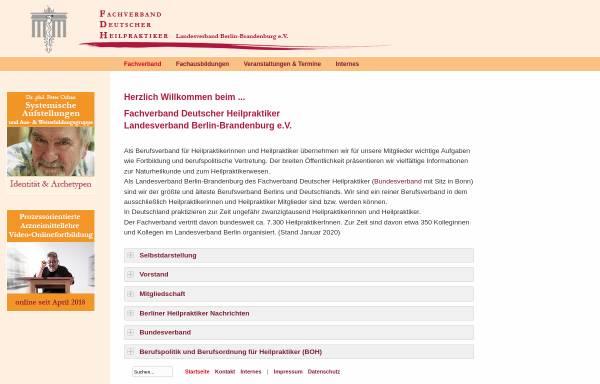 Vorschau von www.heilpraktiker-berlin.org, Fachverband Dt. Heilpraktiker LV Berlin-Brandenburg