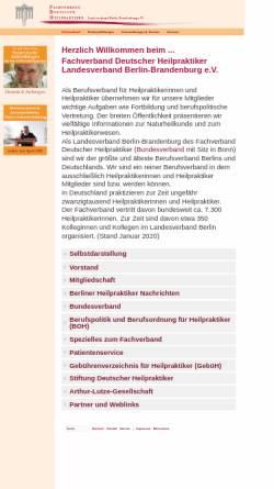 Vorschau der mobilen Webseite www.heilpraktiker-berlin.org, Fachverband Dt. Heilpraktiker LV Berlin-Brandenburg