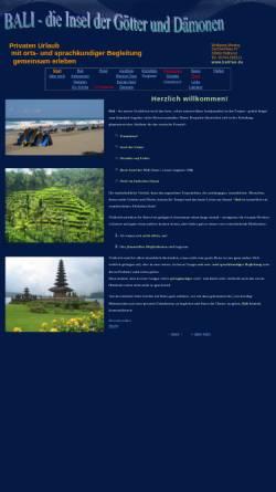 Vorschau der mobilen Webseite www.balifan.de, Bali - die Insel der Götter und Dämonen