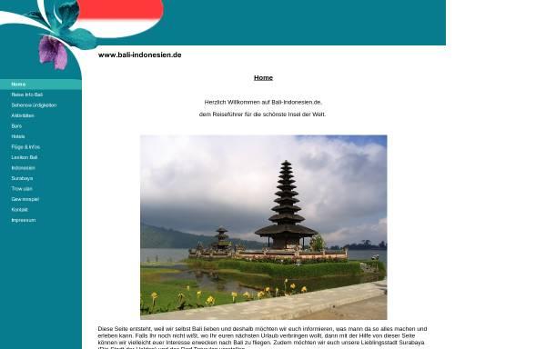 Vorschau von www.bali-indonesien.de, Bali-Indonesien.de
