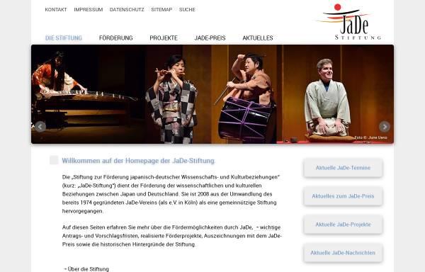 Vorschau von www.jadestiftung.org, JaDe-Stiftung