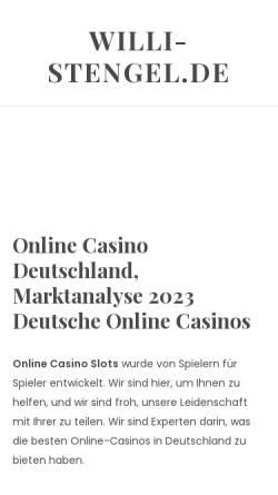 Vorschau der mobilen Webseite www.willi-stengel.de, Willis Korea-Ecke