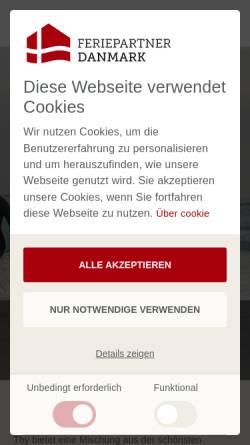 Vorschau der mobilen Webseite www.feriepartner.de, Feriepartner Thy