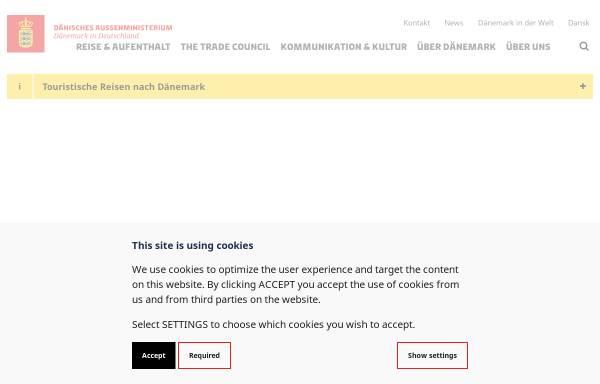 Vorschau von tyskland.um.dk, Dänemark in Deutschland