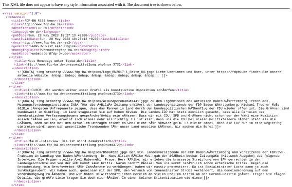 Vorschau von www.fdp-bw.de, FDP-BW Weblog
