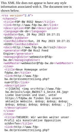 Vorschau der mobilen Webseite www.fdp-bw.de, FDP-BW Weblog