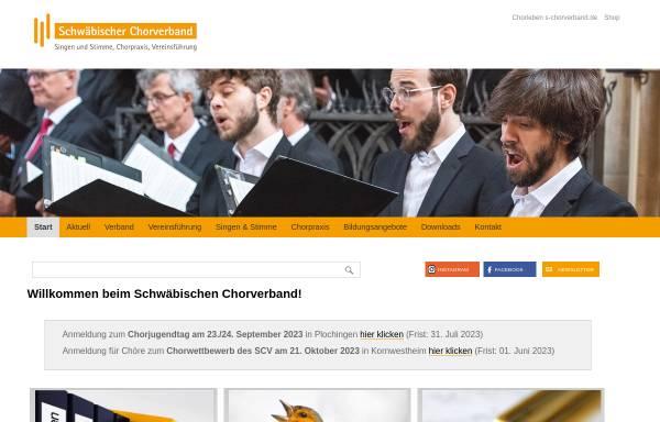 Vorschau von www.s-chorverband.de, Schwäbischer Chorverband