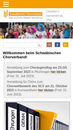 Vorschau der mobilen Webseite www.s-chorverband.de, Schwäbischer Chorverband