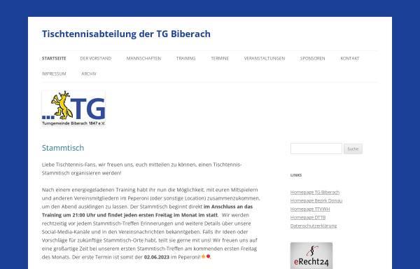 Vorschau von www.ttbiber.de, TG Biberach 1847 e.V. - Tischtennis