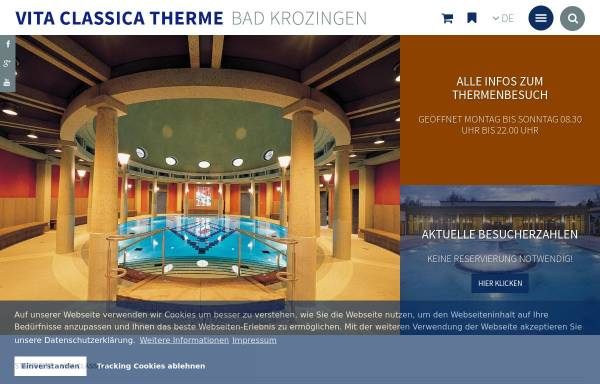 Vorschau von www.bad-krozingen.info, Vita Classica Therme