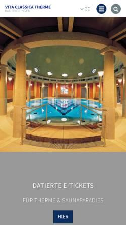Vorschau der mobilen Webseite www.bad-krozingen.info, Vita Classica Therme