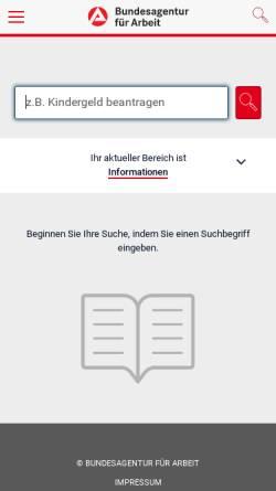 Vorschau der mobilen Webseite www.arbeitsagentur.de, Berufsberatung Nagold