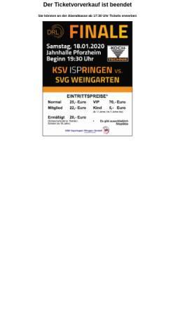 Vorschau der mobilen Webseite www.ksv-ispringen-1906.de, KSV Ispringen 1906 e. V.