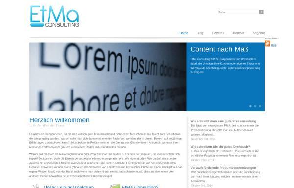 Vorschau von www.etma-consulting.de, EtMa Consulting