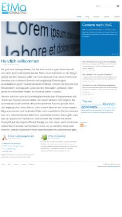 Vorschau der mobilen Webseite www.etma-consulting.de, EtMa Consulting