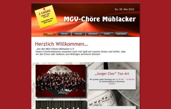 Vorschau von mgv-choere.de, MGV-Chöre Mühlacker