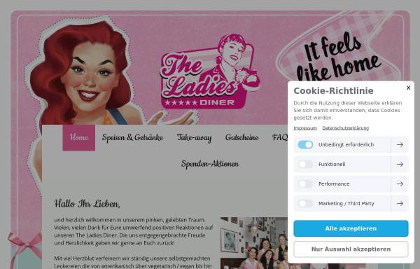 Vorschau von www.theladies.de, The Ladies - 50's Diner