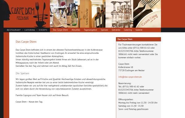 Vorschau von www.das-carpe-diem.de, Carpe Diem