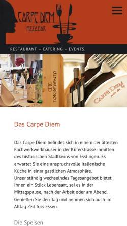 Vorschau der mobilen Webseite www.das-carpe-diem.de, Carpe Diem