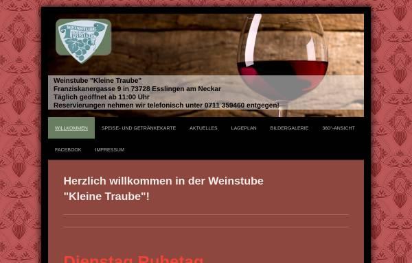 Vorschau von www.kleine-traube.de, Weinstube Kleine Traube
