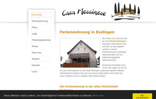 Vorschau von www.ferienwohnungen-esslingen.de, Ferienwohnung Waschler